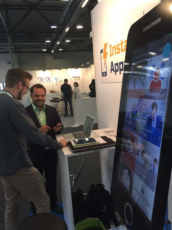 Proteam mit Vertriebspartner auf der IT-Messe in Wien